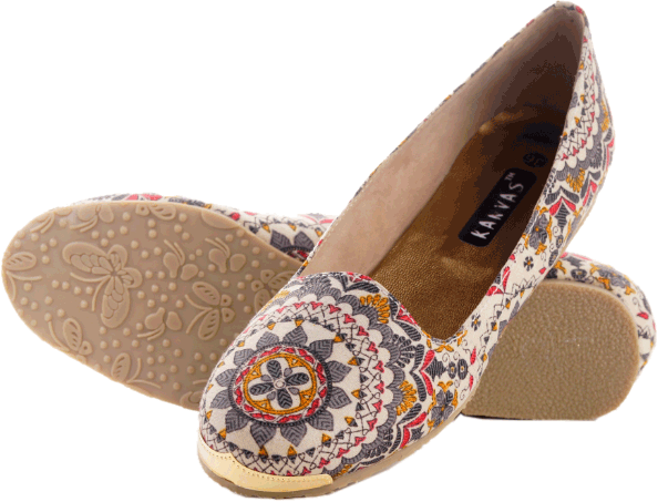 White Printed Loafers - StyleCracker