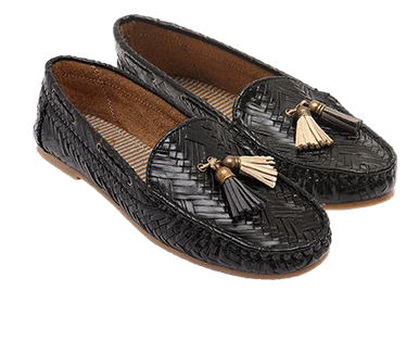 Black Woven Loafers - StyleCracker