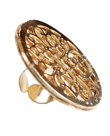 The Baroque Disc Ring - StyleCracker