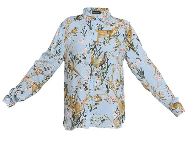 Blue Deer Print Shirt - StyleCracker