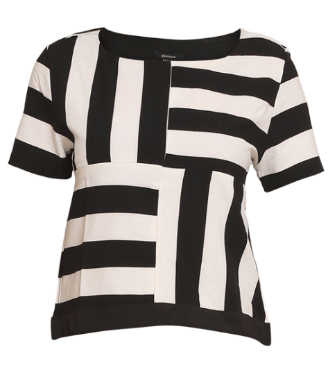 Black and White Stripe Top - StyleCracker