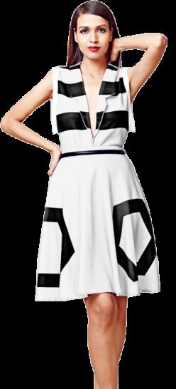 Striped Blazer (dirty white) - StyleCracker