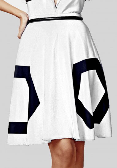 Hexagonal Skirt (White) - StyleCracker