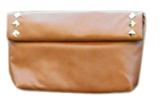 Two-Fold Tan Stud Sling - StyleCracker