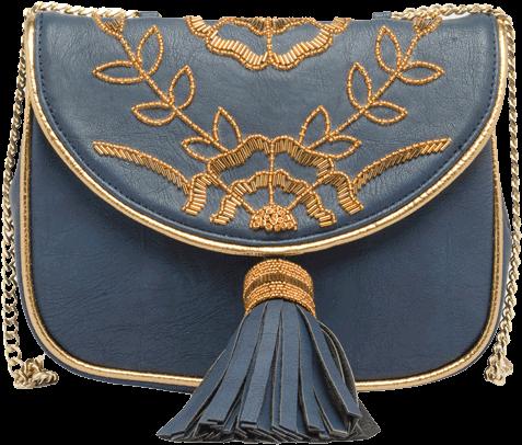 Navy Blue Sling Bag - StyleCracker