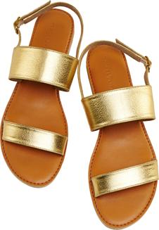 Gold Dual Strap Flats - StyleCracker