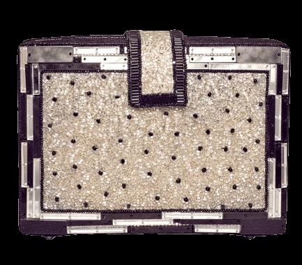 Beaded Clutches-Silver Black - StyleCracker