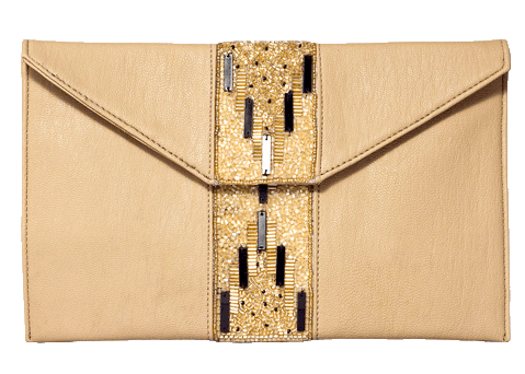 Beige Beaded Clutches - StyleCracker