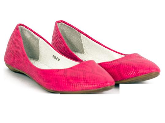 Pink Texture Flats - StyleCracker