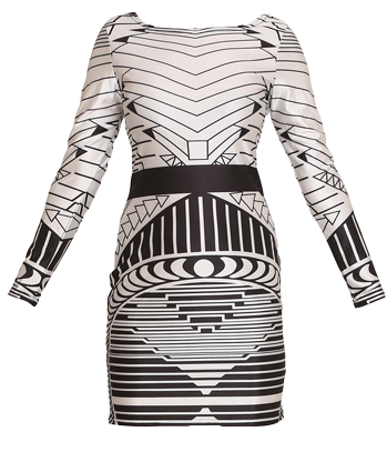 Geometric Print BodyCon Dress - StyleCracker