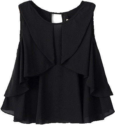 Black Ruffle Blouse - StyleCracker