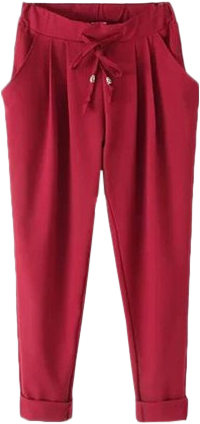 Red Drawstring Pants - StyleCracker