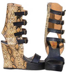 High Snakeskin Gladiators - StyleCracker
