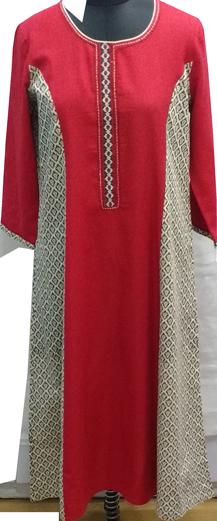 Red Printed Kurta - StyleCracker