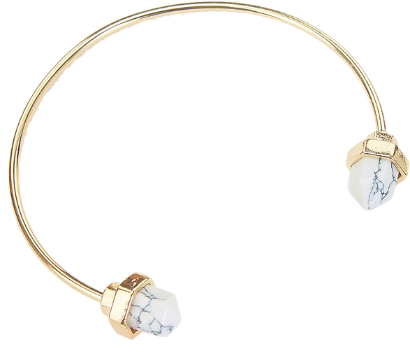 White Quarz Bangle - StyleCracker
