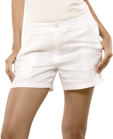 Summer White Linen Shorts - StyleCracker