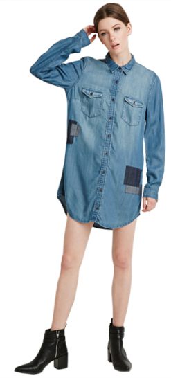 Denim Shirt Dress - StyleCracker