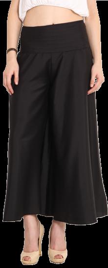 Black Solid Palazzo Pants - StyleCracker
