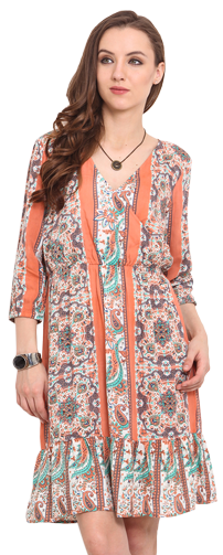 Printed Rayon dress - StyleCracker