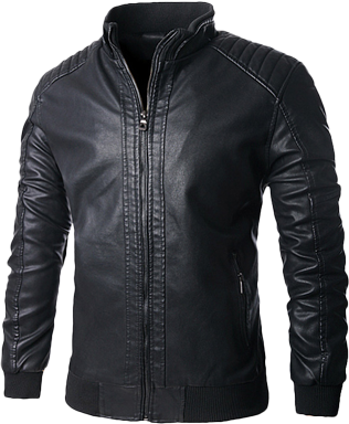 Mens Sexy Black Pure Leather  Coat - 80B88XL06 - StyleCracker