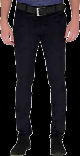 JadeBlue Navy Blue Corduroy Casual Trouser - StyleCracker