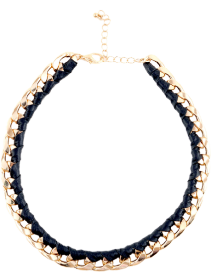 Not All Black Is Gold Necklace - StyleCracker