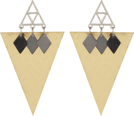 Golden Triangle Earring - StyleCracker