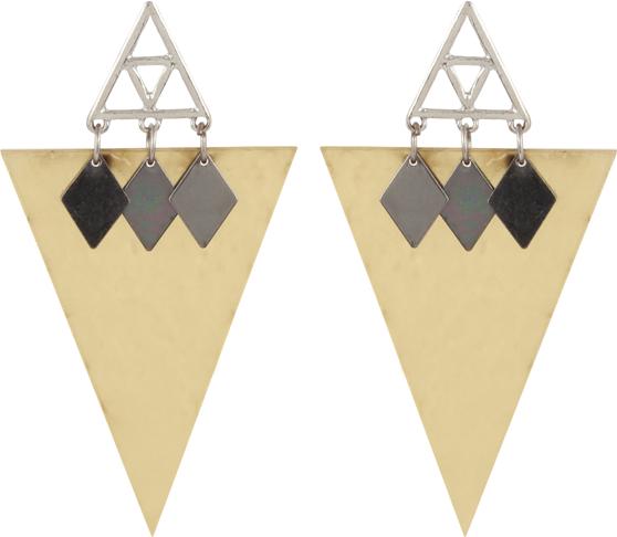 Golden Triangle Earring - StyleCracker