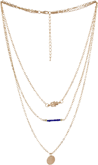 Multi Level Gold Karma Necklace - StyleCracker