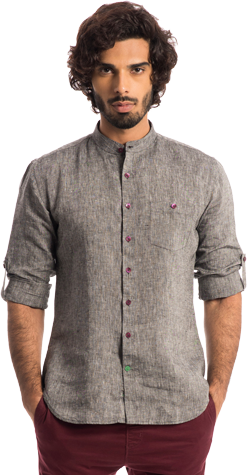 The Shepherd: Grey Slate 100% Linen Shirt - StyleCracker