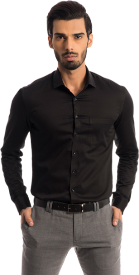 The Merchant: Black Satin Shirt - StyleCracker