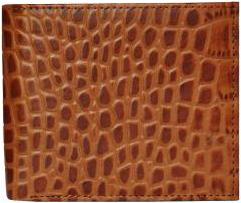 Croc Tan Wallet - StyleCracker
