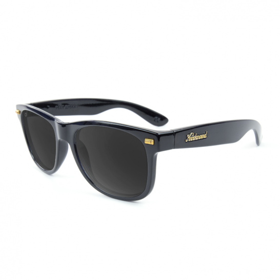 Glossy Black POLARIZED Smoke Fort Knocks - StyleCracker