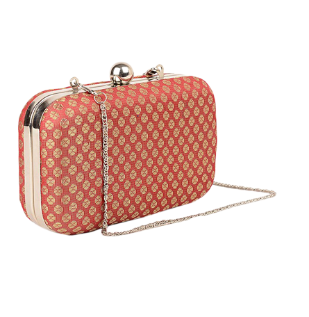 Red Brocade Clutch - StyleCracker