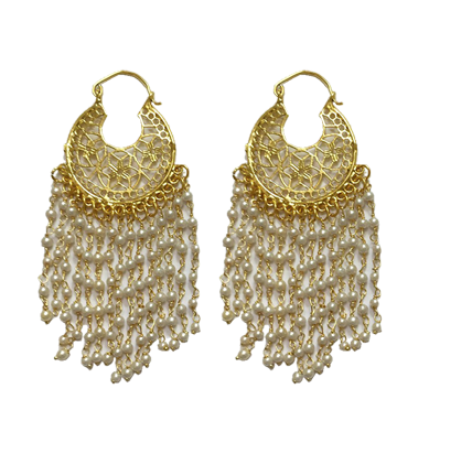 Pearl Tassel Earrings - StyleCracker