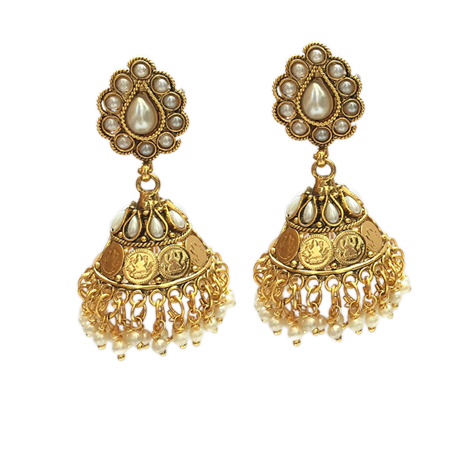 Coin Motif Jhumka Earrings - StyleCracker