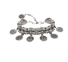 Silver Coin Bracelet - StyleCracker
