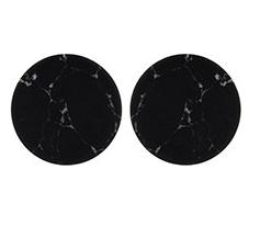 Black Marbled Round Earrings - StyleCracker