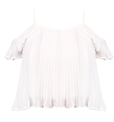 White Cold Shoulder Blouse - StyleCracker
