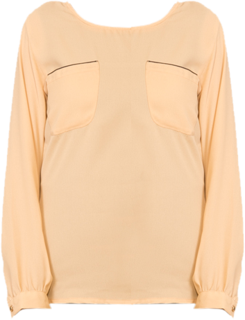 Nude Yoke shirt with back buttons - StyleCracker