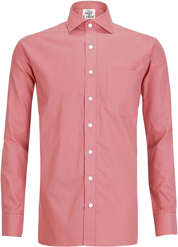 Salmon Oxford Cotton Shirt - StyleCracker