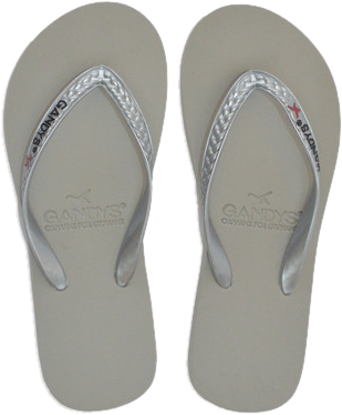 Gandys - Silver Slim Line Metallics For Women - StyleCracker