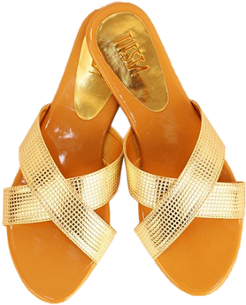 Gold Criss Cross Flats - StyleCracker