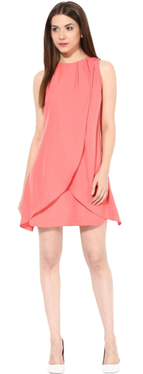 Tulip Wrap A-Line Dress - StyleCracker