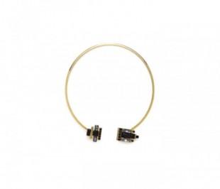 Toniq Gold And Black Torque Necklace - StyleCracker