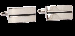 The Bro Code Silver Rectangle cufflinks - StyleCracker
