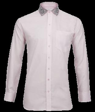 Pink Oxford Odisha Ikkat Shirt - StyleCracker