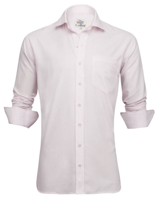 Pink Oxford Striped Inner Lining Shirt - StyleCracker