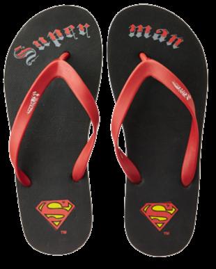 Superman Red Flip Flops - StyleCracker