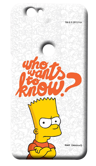 Simpsons - Who Wants To Know - Case For Huawei Nexus 6P - StyleCracker